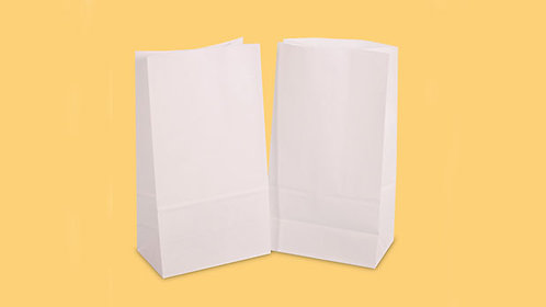 Hayath Food Grade White Paper Pouch HPB1021 (W6.5xH12xG4 inch) 90GSM