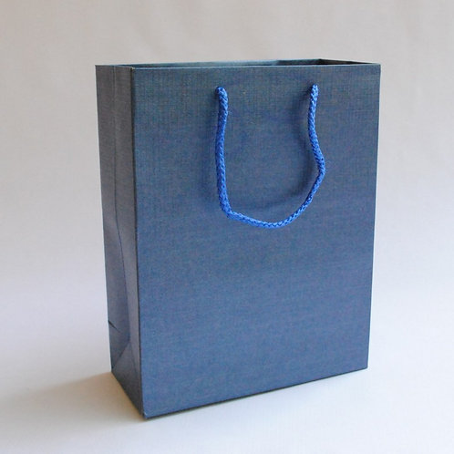Hayath Hand Made Blue Handle bag HPB1031 (W8xH10xG2.5 inch) 180GSM