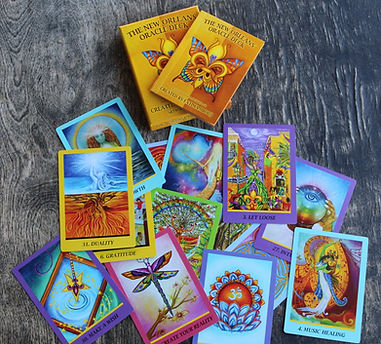 new orleans oracle deck: box, guide book, sample cards