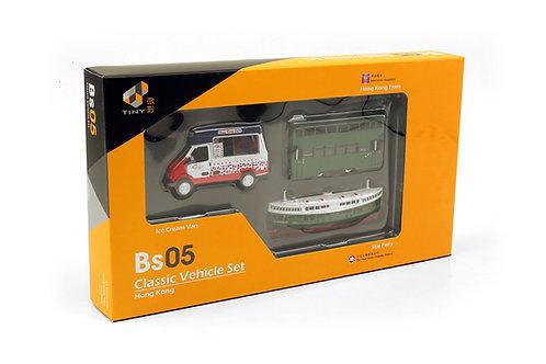 TINY Bs05 Classic Vehicle Set Hong Kong 城市合金車仔 - BS05 香港經典套裝