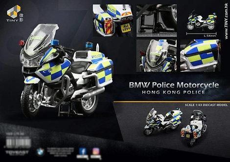 Tiny City #87 Hong Kong Police BMW Motorcycle Bike Diecast 寶馬R900RT警察電單車