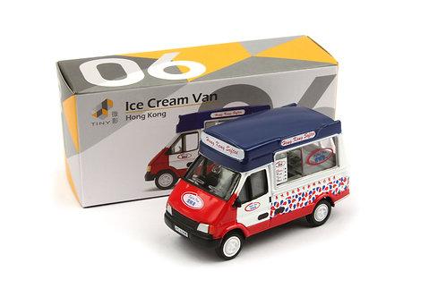 TINY CITY 06 DIE-CAST MODEL CAR - ICE CREAM VAN 城市 06 合金車仔 — 雪糕車