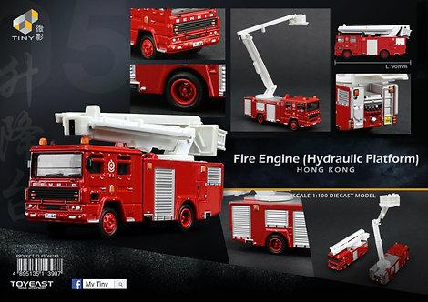 TINY Hong Kong HK #05 Hong Kong Fire Engine (Hydraulic Platfrom) Diecast 消防梯車