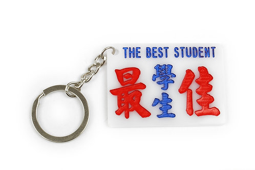 TINY PUBLIC LIGHT BUS SIGN MINI KEYCHAIN - THE BEST STUDENT 小巴牌鎖匙扣 - 最佳學生