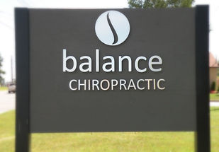 Balance Chiropractic sign River St., Thunder Bay, ON