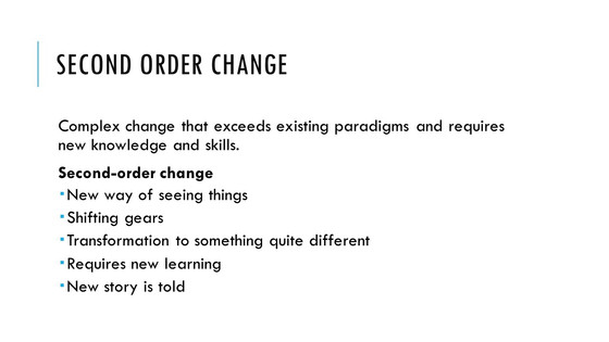 Starting Again: Perspective on Change