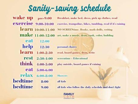 Sanity-Saving Schedules