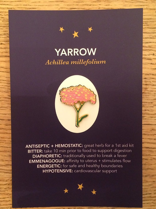 Pink Yarrow Pin