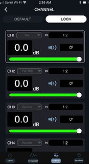 DSP-Z8IV APP Channels Setup
