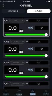 DSP-Z8IV APP Channels Setup