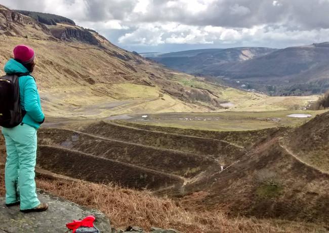 Gayle Rogers on site near Rhigos mountain