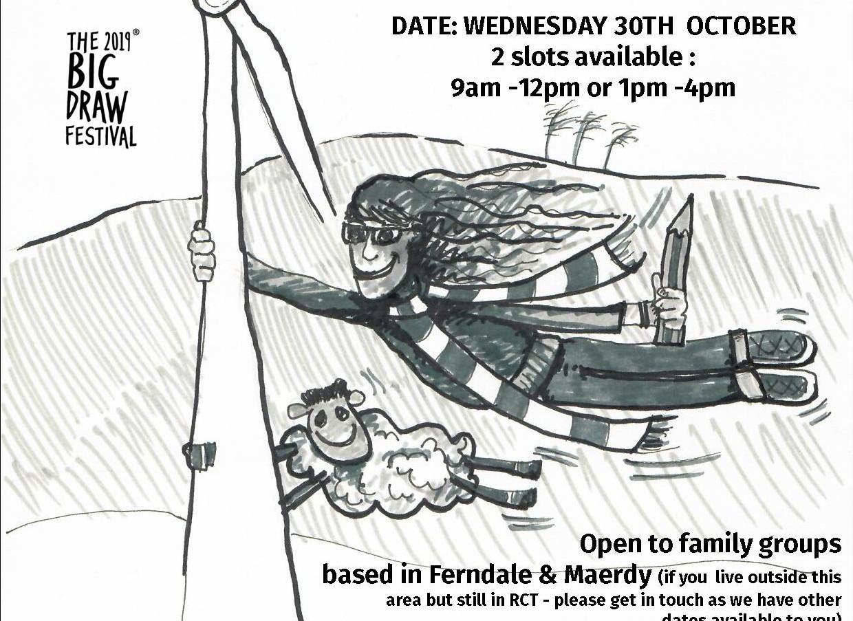 WINDY DRAWS Ferndale Maerdy workshops Ga