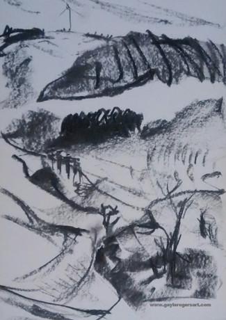 Rhigos Mountain drawing by Gayle Rogers.jpg