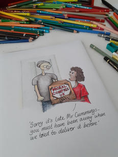 Drawing on the drawing board by Gayle Rogers