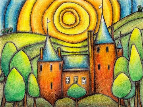 Castle Coch A4 Art Print
