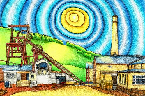 Lewis Merthyr Colliery A3 Art Print