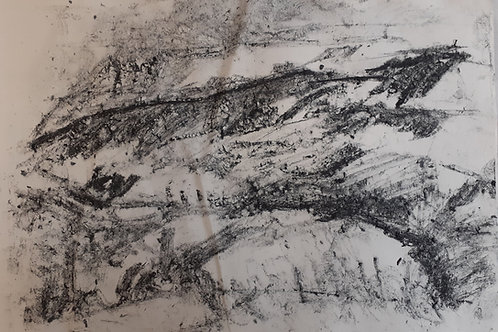 Sodden Land, Plein Air Drawing
