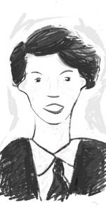 School girl portrait by Gayle Rogers