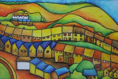 Homes A3 Art Print