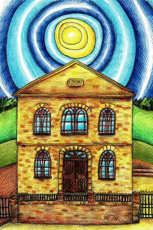 Sion Chapel Maerdy A4 Art Print