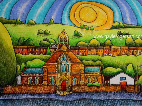 St Anne's Church Ynyshir A4 Art Print