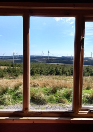 View from the hut into the Pen y Cymoedd Site
