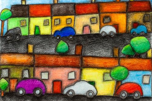 Up My Street A3 Art Print