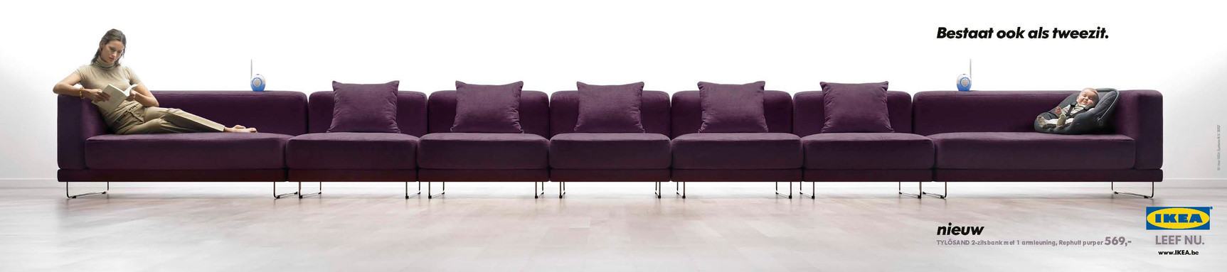 Everybody knows it's good to give each other some space from time to time.  Also available as a loveseat, just in case.