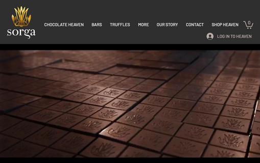 Website for SORGA Chocolate Bali