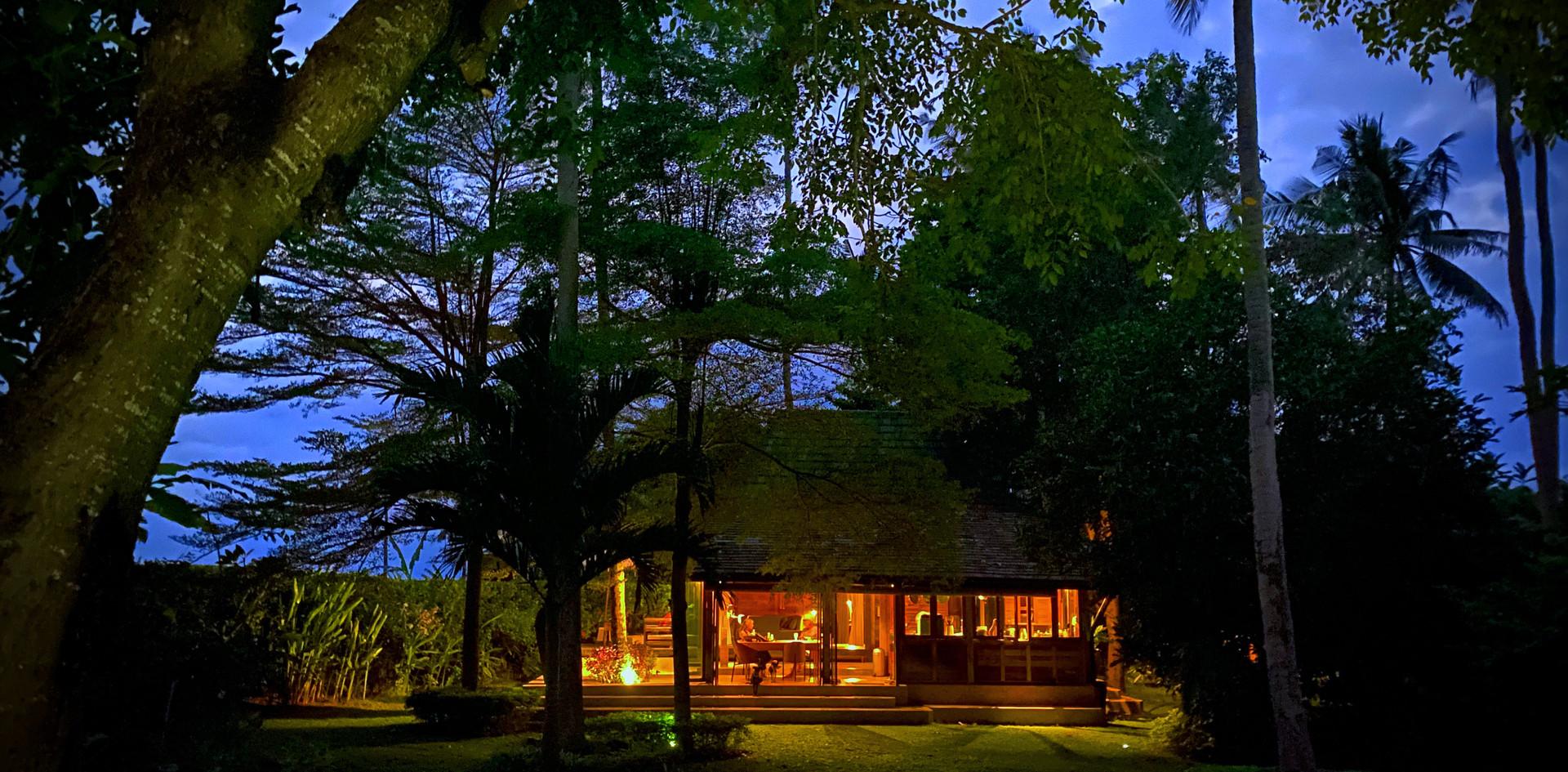 The Main House at night