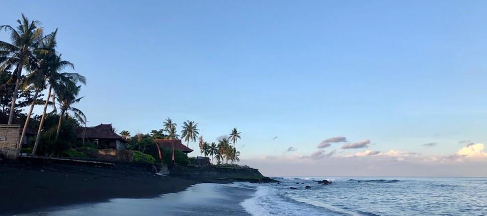 Semi private beach behind the property