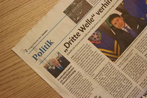 Aktuelles in der Politik Zeitungsartikel