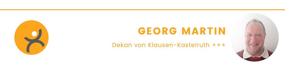 Autorenleiste Dekan Georg Martin