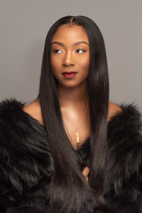 Full Lace Wigs - Straight (Natural 1B)