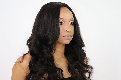Lace Frontal Wigs - Body Wave (Natural 1B)