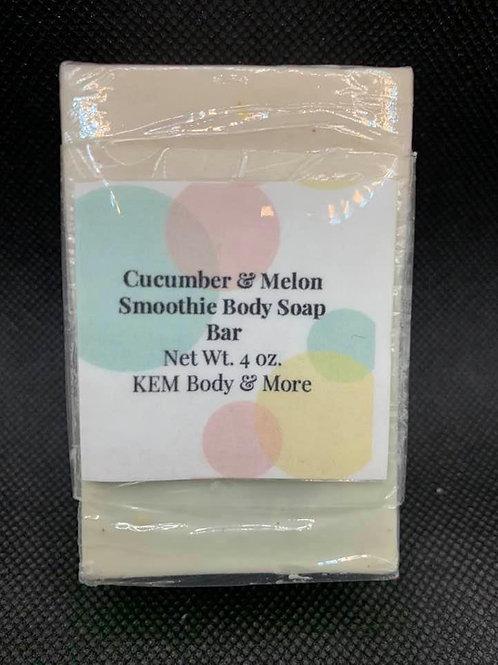 Cucumber Melon Glycerin Bar Soap-4 oz.