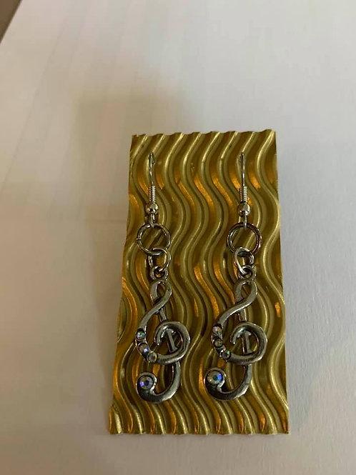 Treble Clef Pierced Earrings