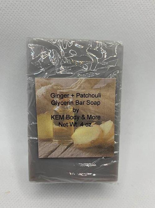 Ginger Patchouli Glycerin Bar Soap-4 oz.