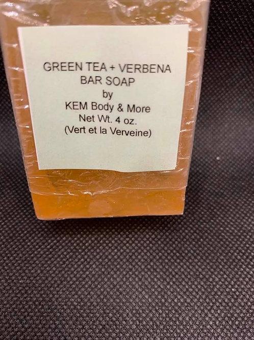 Green Tea + Verbena Glycerin Bar Soap