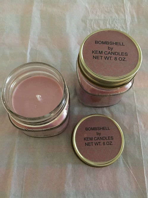 Bombshell Beeswax Soy Blend Candle-8 oz.