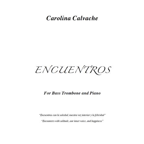 """Encuentros"" PDF Score for Bass Trombone & Piano"