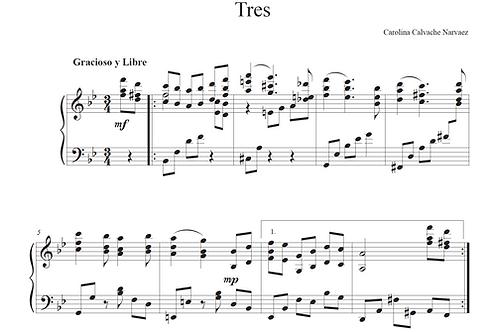 TRES - Piano Solo Piece (Sheet Music-PDF)
