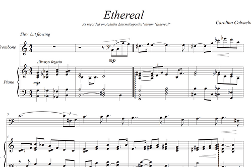 Ethereal Sheet Music-Score & Solo Parts