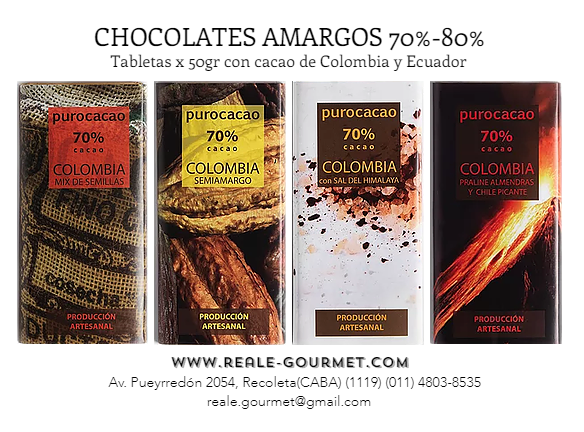 CHOCOLATE PURO CACAO 70%, 80%