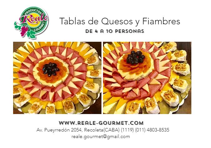 TABLAS DE QUESOS Y FIAMBRES REALE