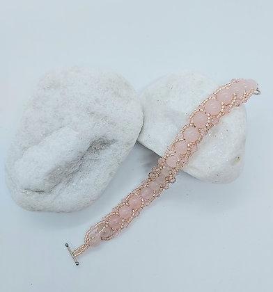 Pink Flat Spiral Bracelet