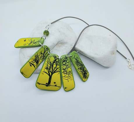 Spring Trees Pendant Necklace