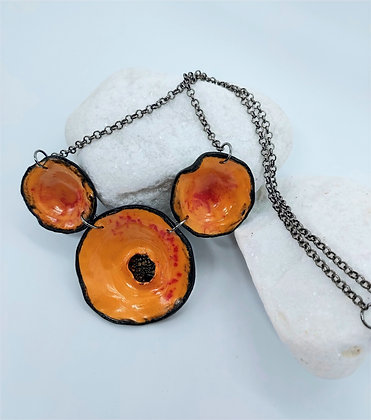 Orange Californian Poppy Necklace