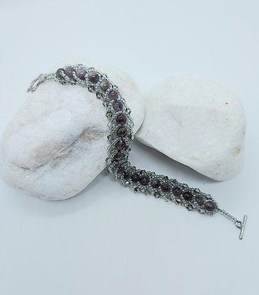 Grey Flat Spiral bracelet