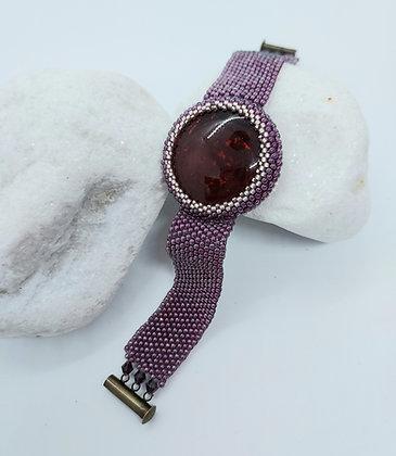 Purple Cabochon Bracelet